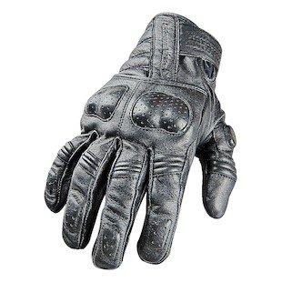 STREET STEEL Brotherhood Leather Motorcycle Gloves - XL Black
