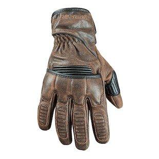 STREET STEEL Scrambler Leather Motorcycle Gloves - XL Brown