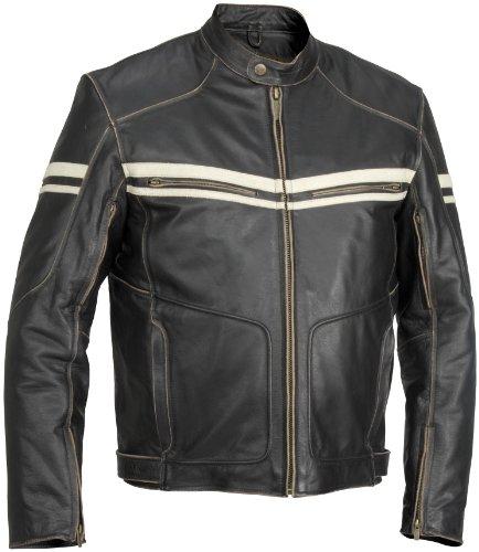 River Road Hoodlum Vintage Leather Jacket - 44Black