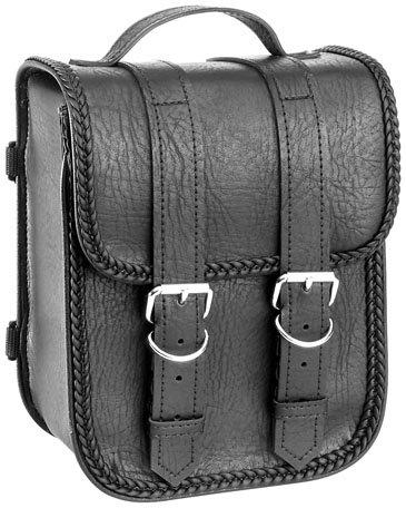 River Road Sissy Bar Bag Braided Black One Size
