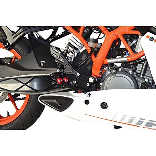 Hotbodies Racing 91401-2500 Black MGP Rear Set KTM RC 390 non-cup DUKE 390 14-16