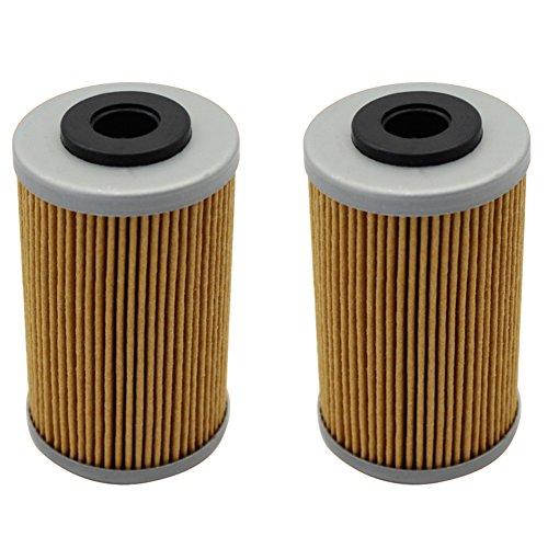 Cyleto Oil Filter for KTM 625 SXC 2002-2007  KTM 625 SMC 2004-2006  625 SC SUPERMOTO 2002 Pack of 2