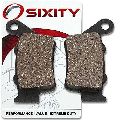 Sixity Rear Organic Brake Pads 2005-2006 KTM 625 SMC Set Full Kit Complete
