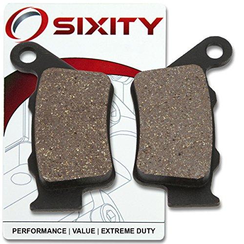 Sixity Rear Organic Brake Pads 2005 KTM 640 Supermoto Set Full Kit SMC LC4 Complete