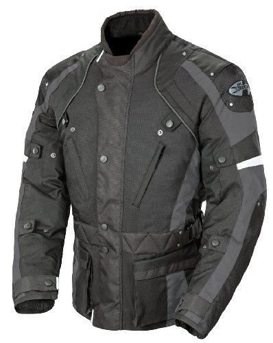 Joe Rocket Ballistic Revolution Mens Textile Motorcycle Riding Jacket BlackGray Medium
