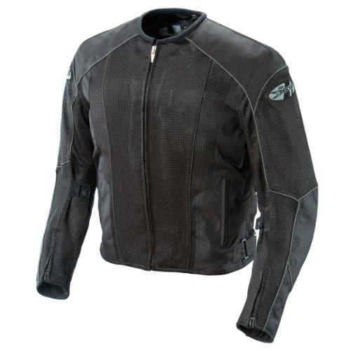 Joe Rocket Phoenix 50 Mens Mesh Motorcycle Riding Jacket BlackBlack Large Tall