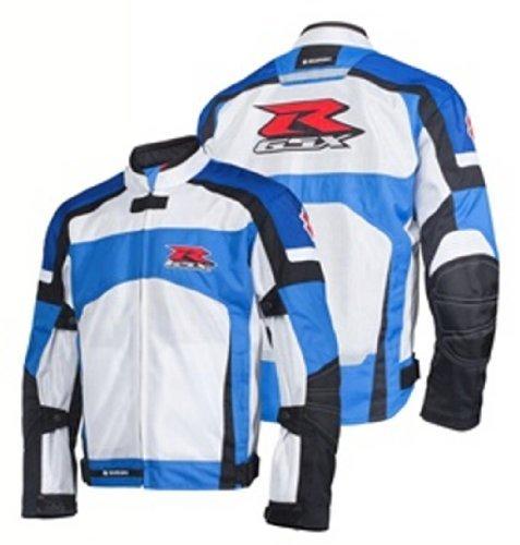 Suzuki GSX-R GSXR Mesh Riding Jacket White Blue XXX-Large XXXL 3X