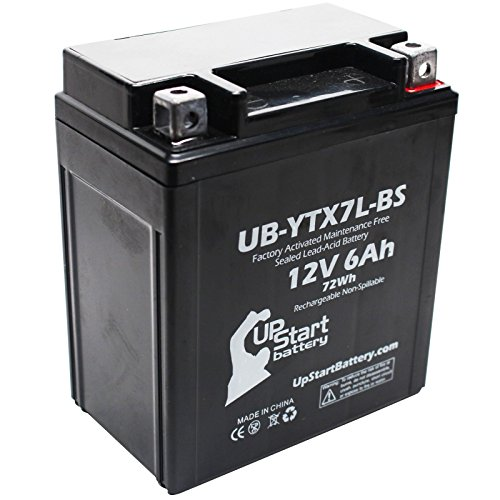 YTX7L-BS Battery Replacement 6Ah 12v Sealed Factory Activated Maintenance Free Battery Compatible with - 2012 Honda CBR250R 2011 Honda CBR250R 2008 Kawasaki KFX450R 2015 Suzuki TU250X