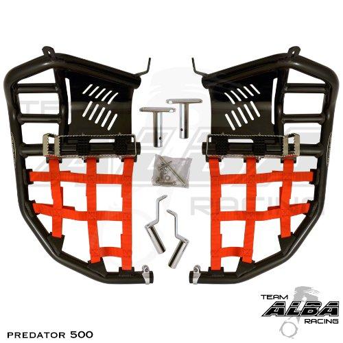 Polaris Predator 500 2003-2007 Propeg Nerf Bar Black Bars w Red Net