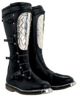 Alpinestars Supervictory Steel Plate Black Motorcycle Boots