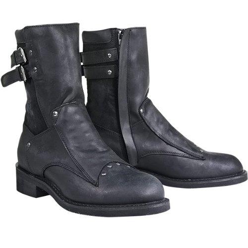 Xelement LU1573 Assassin Mens Black Motorcycle Boots - 8 12