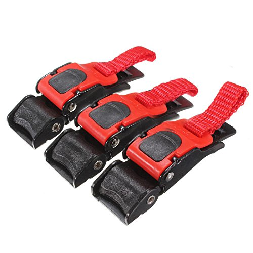 Pull Buckle - TOOGOOR 3x Plastic Motorcycle Helmet Speed Clip Chin Strap Quick Release Pull Buckle New BlackRed