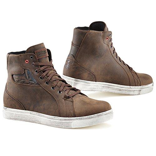 TCX 9402W Mens Street Ace Street Motorcycle Boots - Dakar Brown Size Eu 47  Us 125