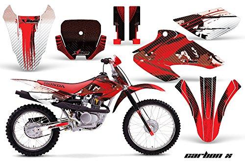 Honda XR80 XR100 2001-2003 MX Dirt Bike Graphic Kit Sticker Decals XR 80 100 CARBONX RED
