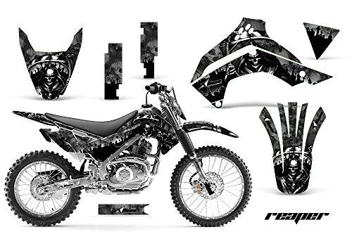 Kawasaki KLX140 2008-2016 MX Dirt Bike Graphic Kit Sticker Decals KLX 140 WITH Number Plates REAPER BLACK