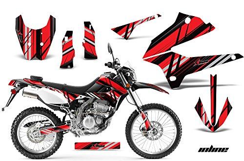 Kawasaki KLX250 2008-2016 MX Dirt Bike Graphic Kit Sticker Decals KLX 250 INLINE RED