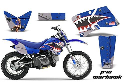 Yamaha TTR50 2006-2009 MX Dirt Bike Graphic Kit Sticker Decals TTR 50 WARHAWK BLUE