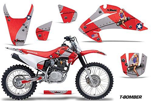 Honda CRF150 CRF230F 2003-2007 MX Dirt Bike Graphic Kit Sticker Decals CRF 125 230 F TBOMB RED