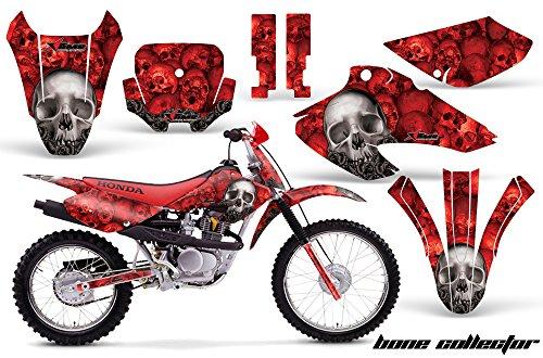 Honda XR80 XR100 2001-2003 MX Dirt Bike Graphic Kit Sticker Decals XR 80 100 BONES RED