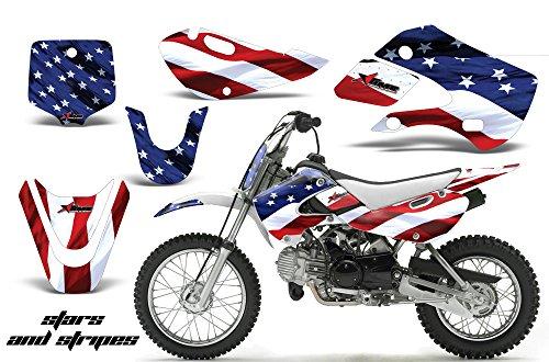 Kawasaki KLX110 2002-2009 MX Dirt Bike Graphic Kit Sticker Decals KLX 110 STARS STRIPES
