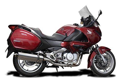 Honda NT700V Daeauville 06-15 17 Stainless Steel Tri-Oval Muffler Delkevic US KIT14DX