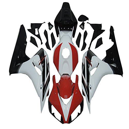 Red White Black ABS Injection Fairing Bodywork Black Plastic Fit for Honda 2006-2007 CBR1000RR aa60