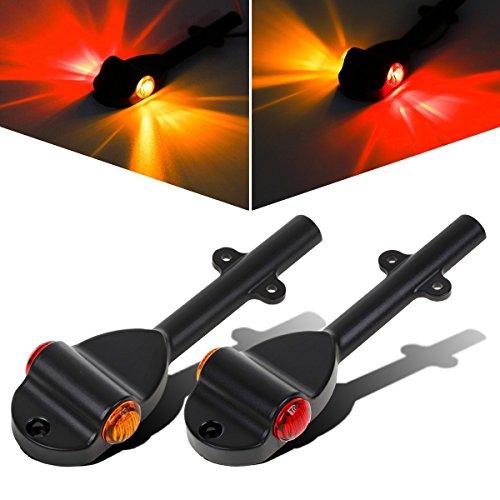 Partsam Set RED AMBER LED Trailer Fender Bullet 34 Led Clearance Marker Light Left Right