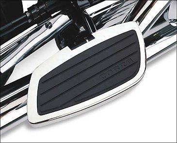 Cobra Passenger Floorboards - Swept Chrome