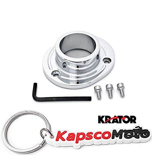 Krator 2000-2005 Honda XR650  XR650R Dirt Bikes Exhaust Tip Muffler Power Outlet Polished Chrome  KapscoMoto Keychain