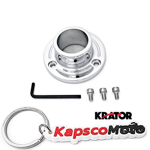 Krator 2005-2007 Yamaha TT-R230 Dirt Bike Exhaust Tip Muffler Power Outlet Polished Chrome  KapscoMoto Keychain
