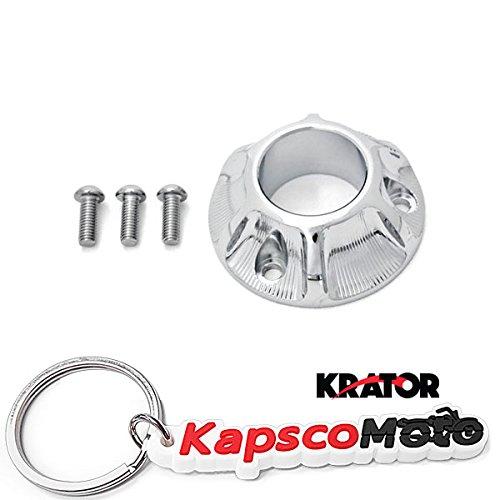 Krator Kawasaki KLX 125  KLX 125L Suzuki DRZ 125  DRZ 125L Yamaha TT-R50  TT-R125E  TT-R125L  TT-R125LE Dirt Bike Exhaust Tip Muffler Power Outlet Polished Chrome  KapscoMoto Keychain