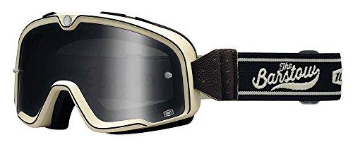 100 Barstow Mens Off-RoadDirt Bike Motorcycle Goggles Eyewear - AscottSmoke  One Size