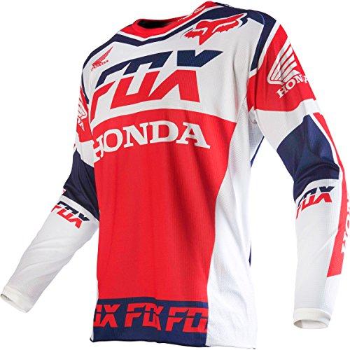 Fox Racing 180 Honda Mens Dirt Bike Motorcycle Jerseys - White  Medium
