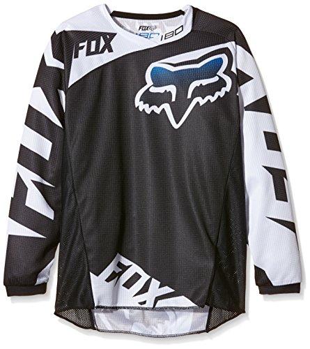 Fox Racing 180 Race Youth Boys Dirt Bike Motorcycle Jerseys - Black  Medium