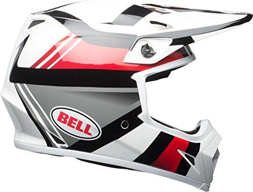 Bell MX-9 MIPS Offroad Helmet - Marauder White  Black  Red - Medium