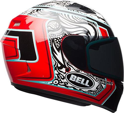Bell Qualifier Full Face Street Helmet - Tagger Gloss White  Black  Red Splice - X-Small