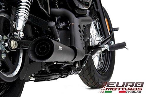 Harley Davidson Sportster 2004-2013 Zard Sport Exhaust System Ceramic Black