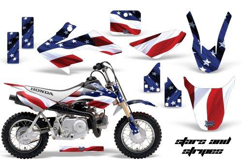 HONDA CRF50 2004-2013 MX Dirt Bike Graphic Kit Sticker Decals CR 50 STARS STRIPES