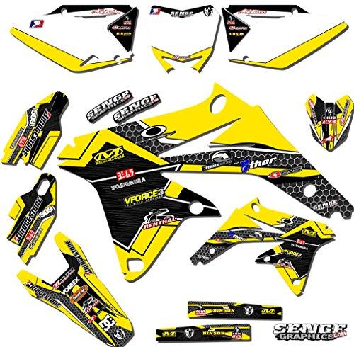 Senge Graphics 1993-1995 Suzuki RM 125250 Podium Yellow Graphics Kit