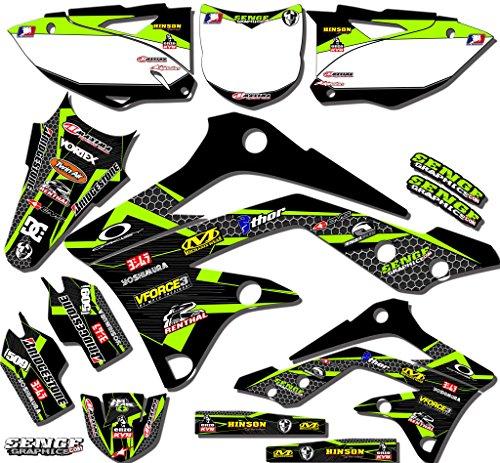 Senge Graphics 2001-2013 Kawasaki KX 85100 Podium Black Graphics Kit