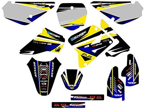 Senge Graphics 2005-2017 Suzuki RM 85 Surge Yellow Graphics Kit