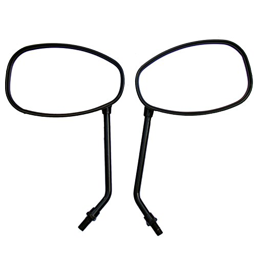 One Pair Black Oval Rear View Mirrors for 1981 Yamaha Exciter 250 SR250