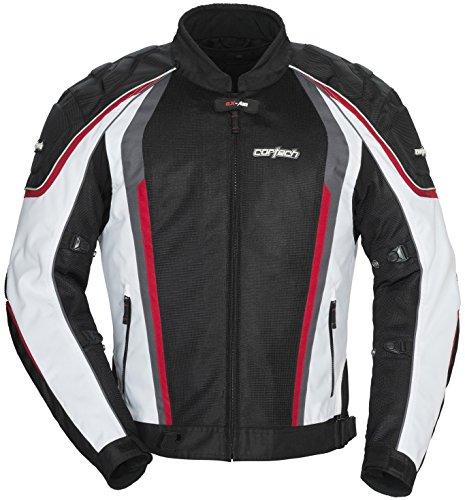 Cortech GX-Sport Air 40 Mens WhiteBlack MeshTextile Jacket - Small