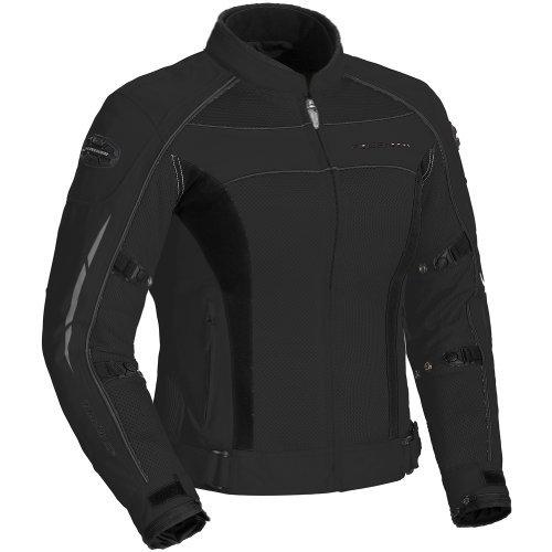 Fieldsheer High Temp Mesh Womens Textile On-Road Racing Motorcycle Jacket - Black  Plus Medium