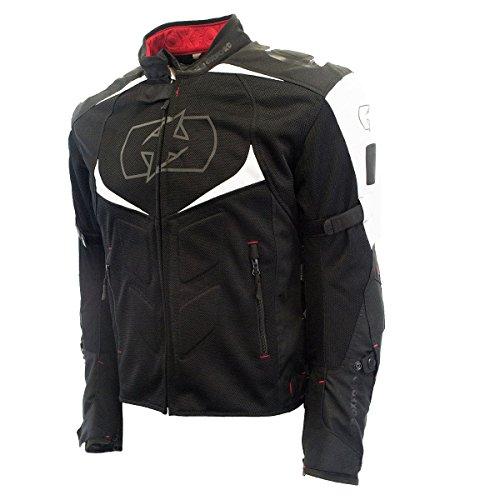 Oxford Melbourne Air 20 Mens BlackWhite MeshTextile Jacket - Large