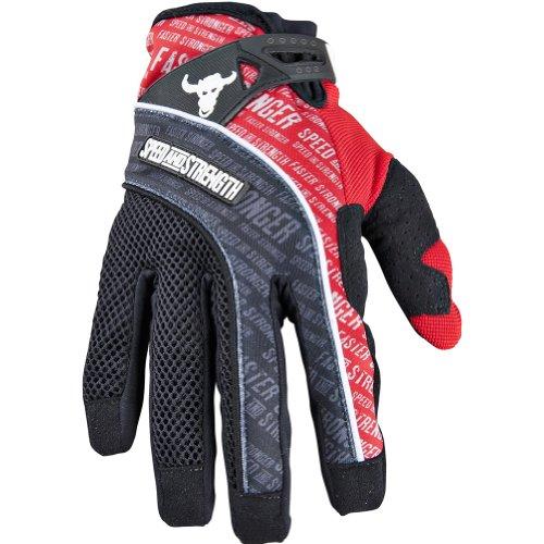 Speed and Strength Lunatic Fringe Mens MeshTextile Street Motorcycle Gloves - Red  Medium