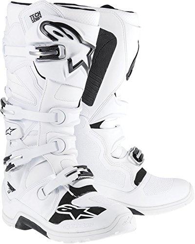 New Alpinestars Tech-7 Enduro Motocross/off-road Adult Microfiber Upper Boots, White/black, Us-10