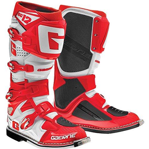Gaerne SG12 Mens RedWhite Motocross Boots - 9