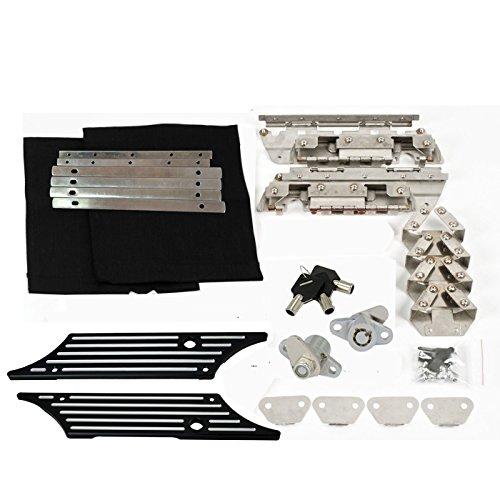 Saddlebag Hard Bag Latch Hardware Kit Billet Cover Lock for Harley Touring 93-13