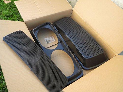 Dual 6x9 Saddlebag Speaker Lids for Harley-Davidson Touring Models 1993-2013